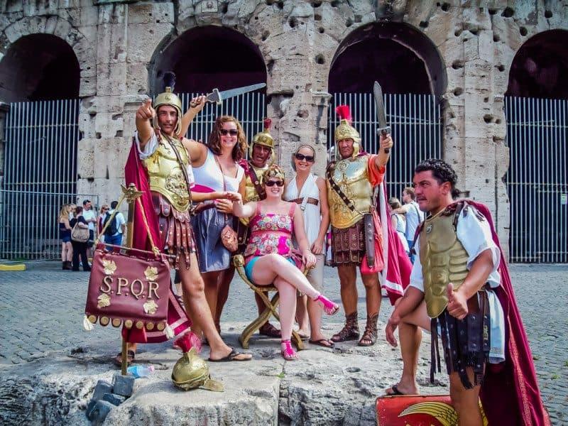 Roman Gladiators Rome Italy