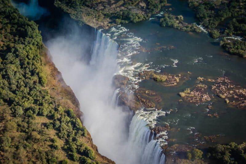 Aerial View Victoria Falls Visit Africa