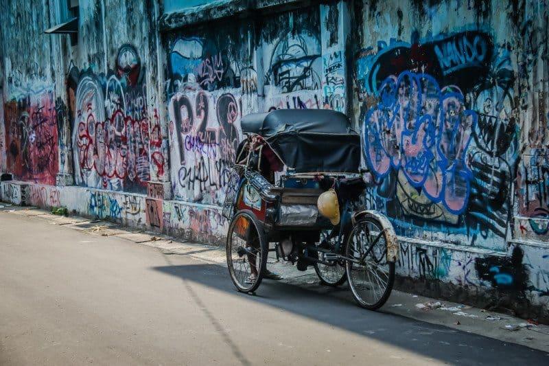 Becak Yogyakarta Indonesia