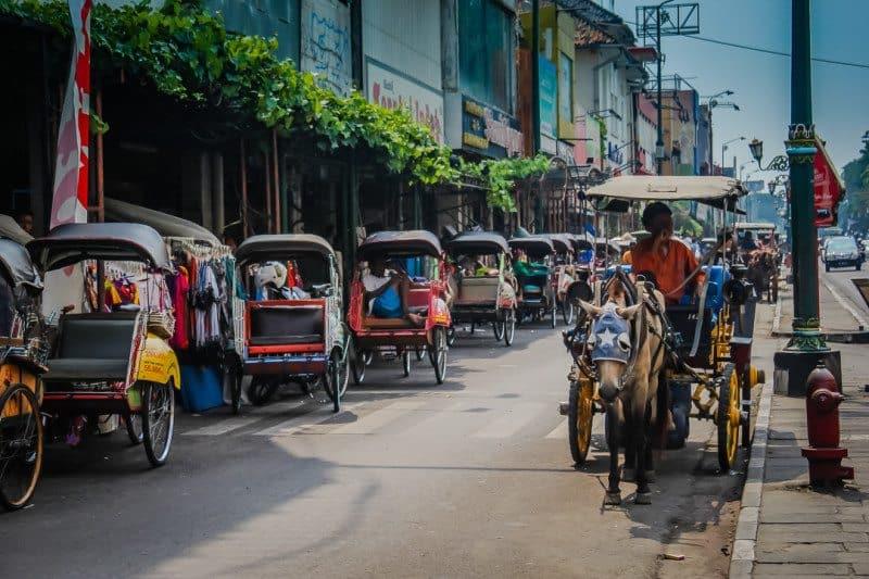 Street of Yogyakarta Indonesia