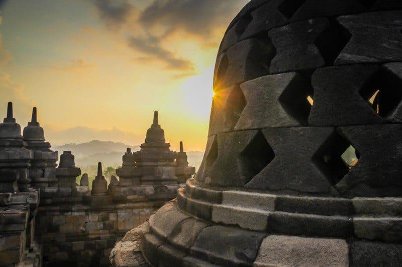 Borobudur Sunset Indonesia
