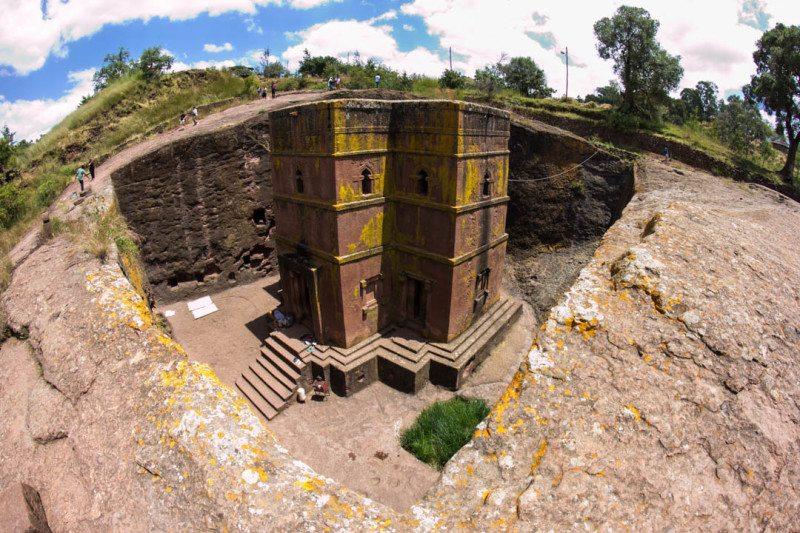 Rock Hewn Church Lalibela Ethiopia