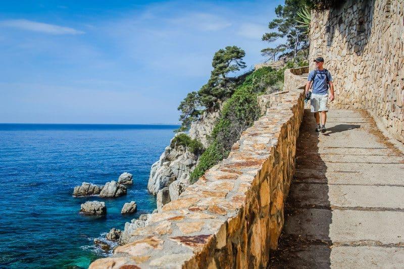 Person hiking the Camino de Ronda Spain