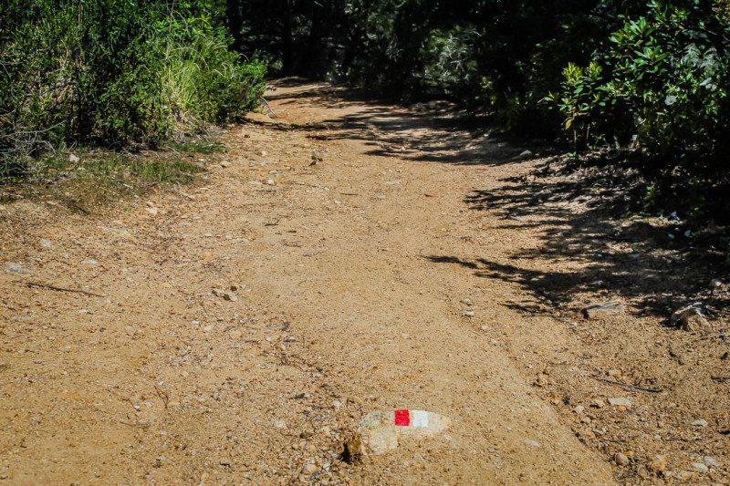 Camino de Ronda GR92 trail marker
