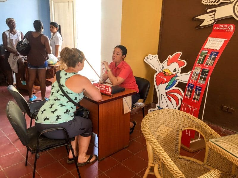 Cubanacan Office - Lina Stock Booking Bus Tickets in Cuba
