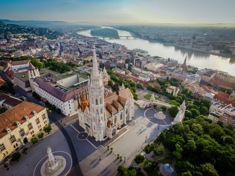 Budapest Hungary Aerial View