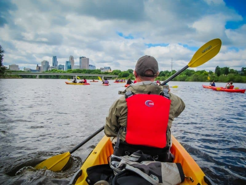 Kayaking in Minneapolis