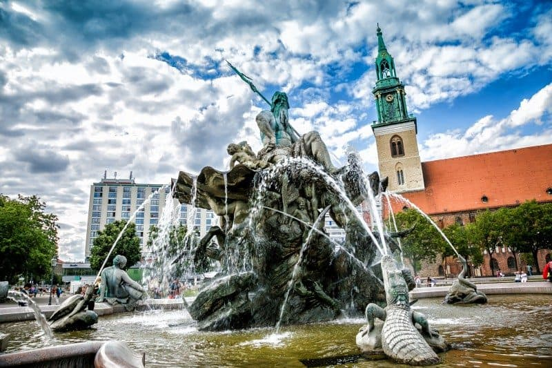 Neptune Fountain Berlin Germany