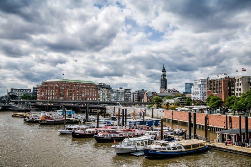 Boats in Hamburg Germany