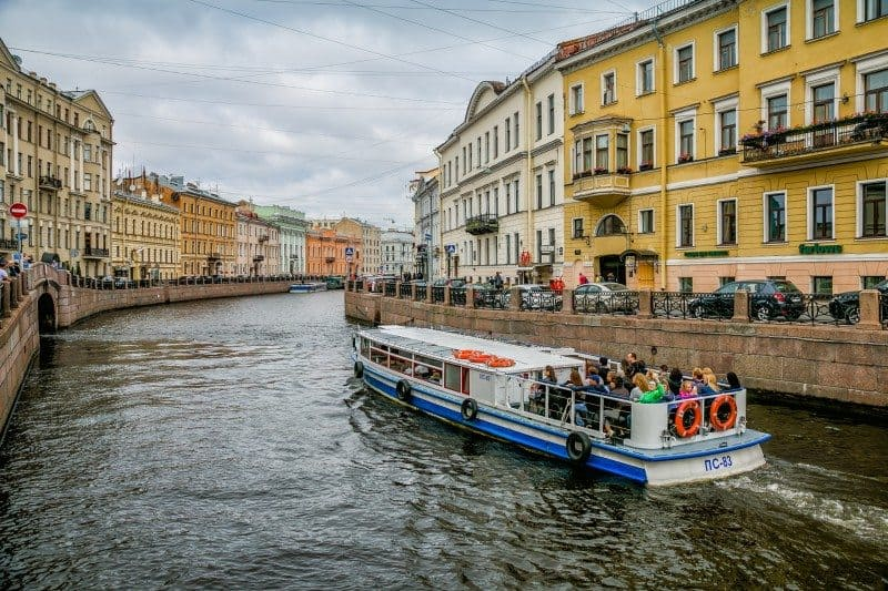 Canal Cruise Best Photo Spots in St. Petersburg Russia