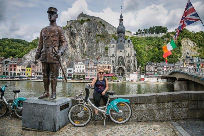 Biking from Namur to Dinant Belgium