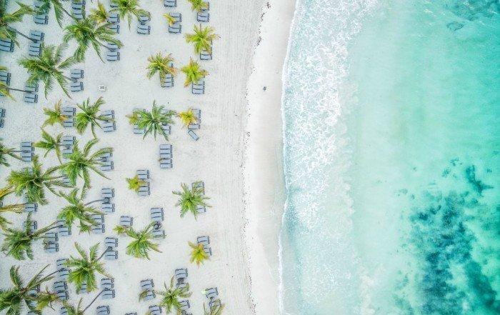 aerial drone photo of Riviera Maya Mexico