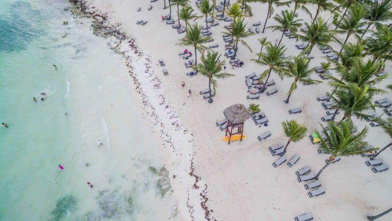 beach in Playa del Carmen Mexico