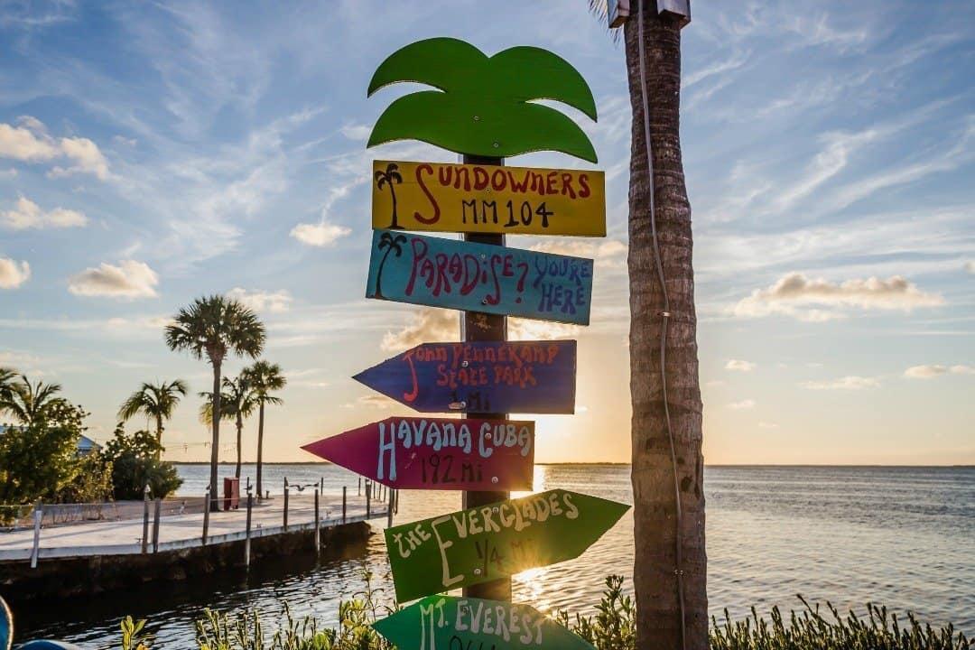 Sundowners Sign on Key Largo