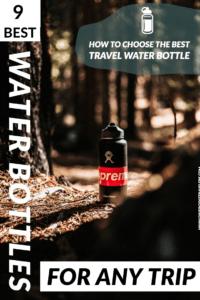 Best Travel Water Bottles for Any Trip Pinterest Pin