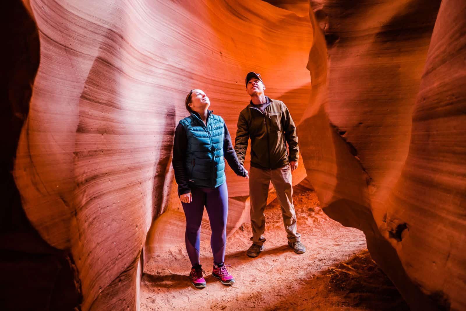 Lina & David Stock at Antelope Canyon