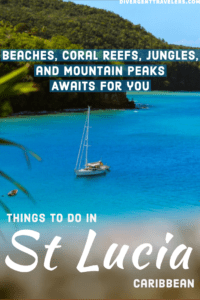 Things to do in St Lucia Pinterest Pin