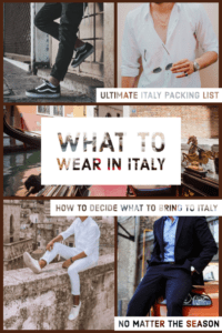 What to Wear in Italy: The Ultimate Italy Packing List Pin