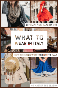 What to Wear in Italy: The Ultimate Italy Packing List Pinterest Pin