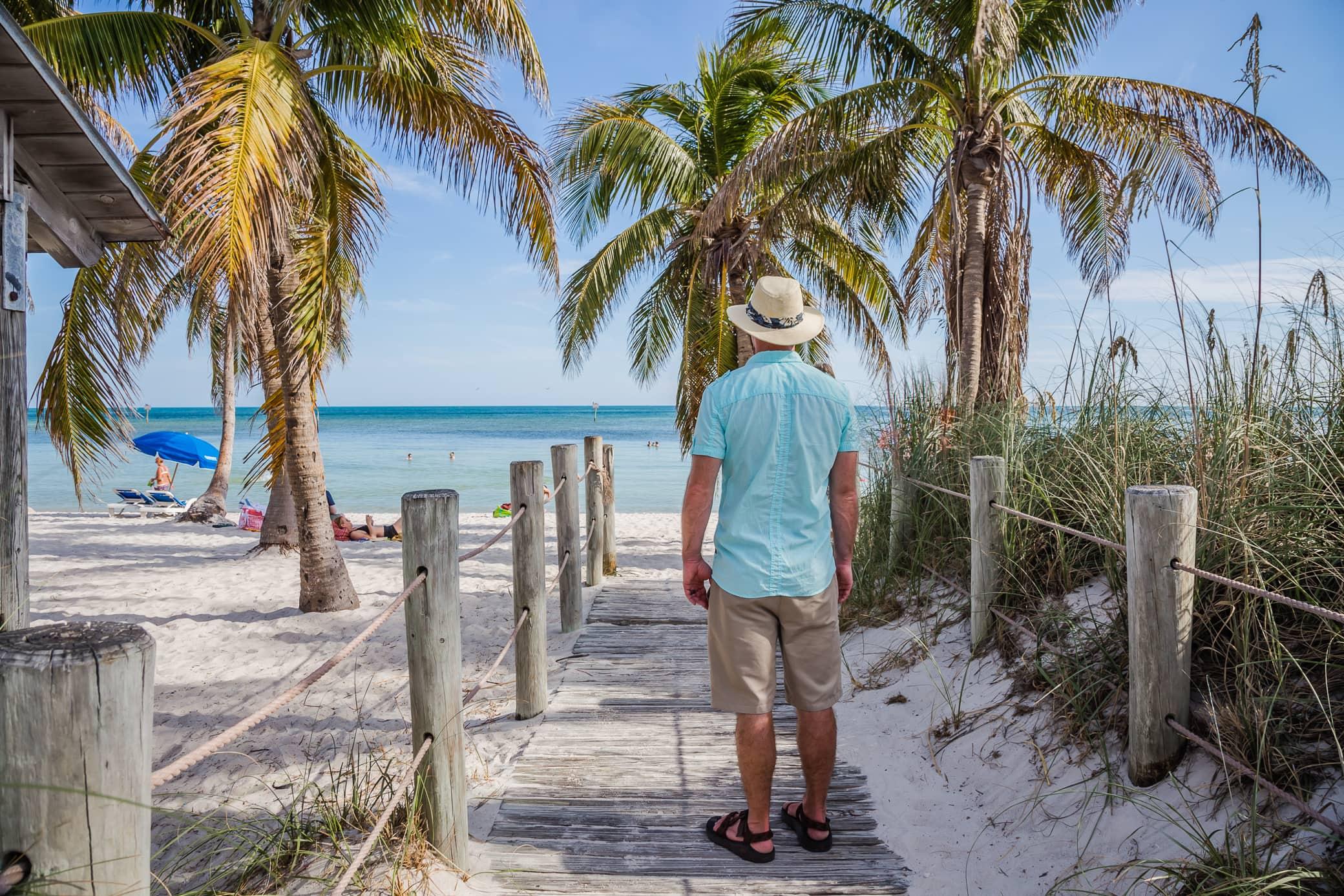 David Stock at Smathers Beach in Key West, Florida Keys