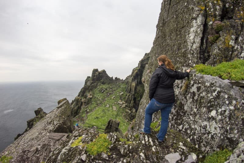 Lina Stock on the Skellig Islands