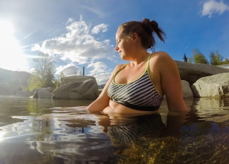 Lina Stock at Chena Hot Springs in Alaksa